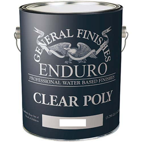 (General Finishes Enduro Water Based Clear Poly, 1 Gallon, Satin)