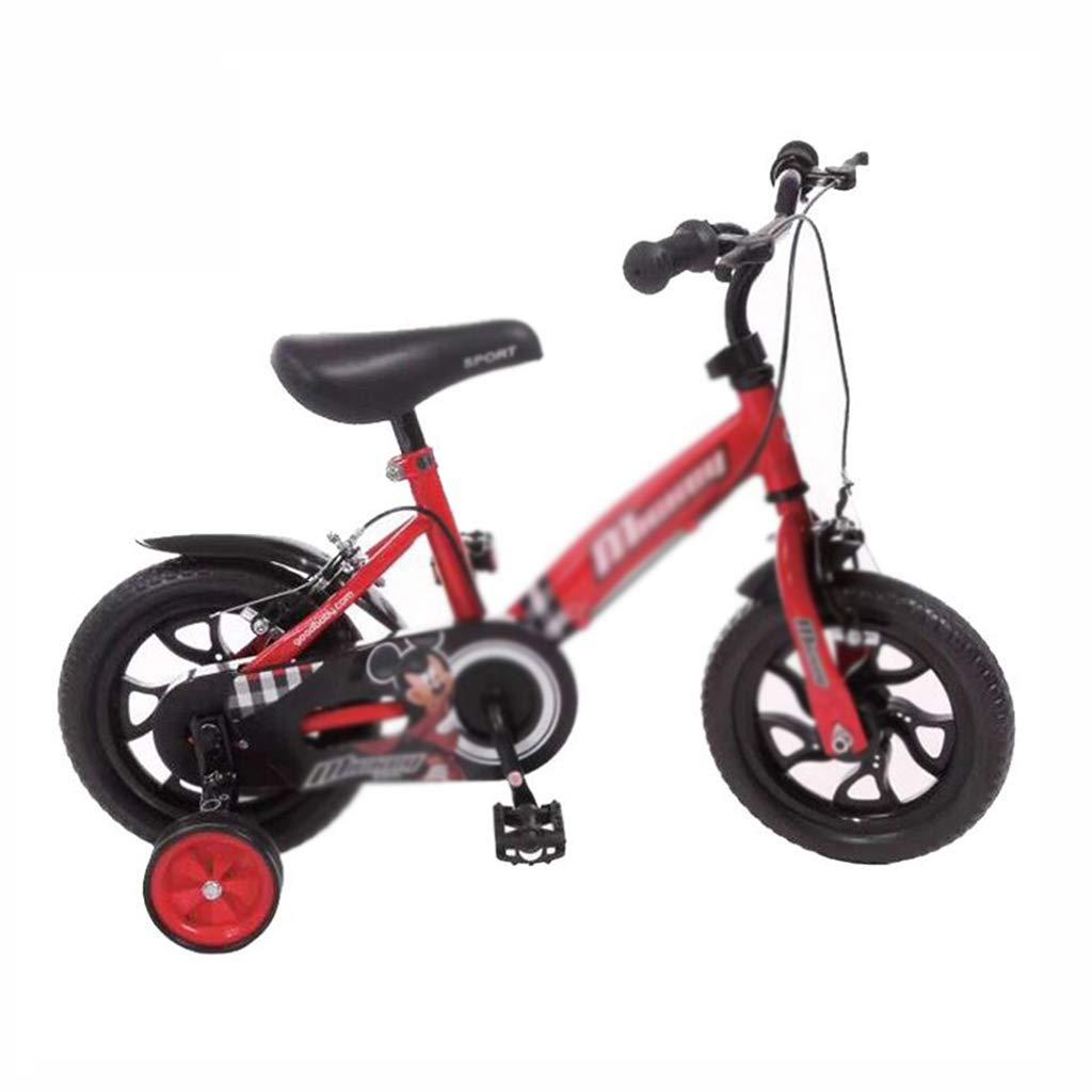 Bici per bambini Bicicletta per Bambini 12 Pollici Passeggino Forma Fredda Bicicletta Studente Bicicletta Antiurto Liscio Regalo Perfetto (Colore   Red, Dimensione   12inch(83cm33cm70cm))