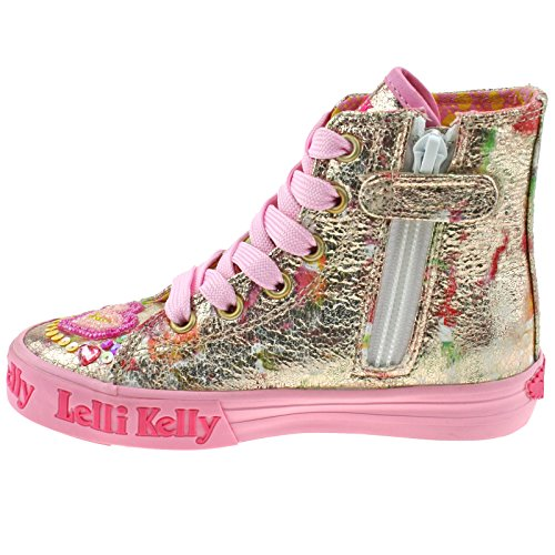 Lelli Kelly LK5088 (BX02) Multi Fantasy Mila Gold Baseball Boots-32 (UK 13)