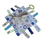 Baby Jack ABC BLUE Shark Sensory Educational Lovey 10 x 10