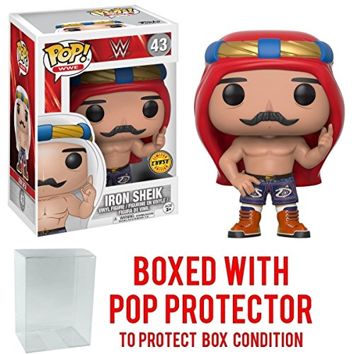 Funko Pop! WWE Iron Sheik Old School CHASE VARIANT Vinyl Figure (Bundled with Pop BOX PROTECTOR CASE) by Pop Protector