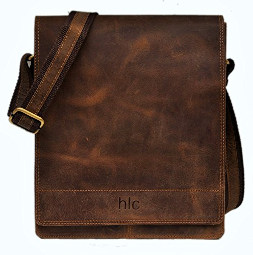 Handolederco Leather Messenger Satchel Laptop Bag for Men