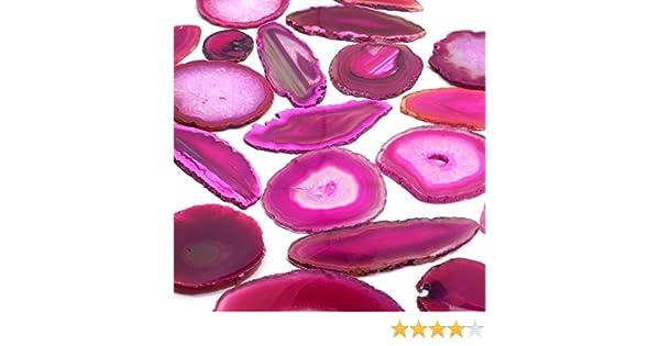 Amazon.com: CrystalAge Agate Slice Pink - Large: CrystalAge: Toys & Games