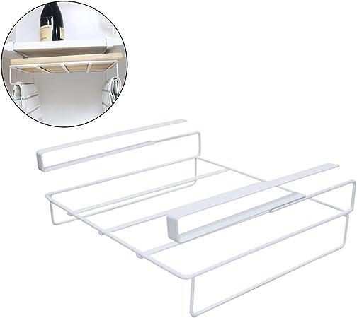 Perchero para colgar tabla de cortar soporte de limpieza de ropa de almacenamiento para armario de cocina, armario de despensa, escritorio de oficina, color blanco: Amazon.es: Hogar