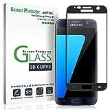 Galaxy S7 Screen Protector Glass (Full Screen Coverage), amFilm Bye-Bye-Bubble Samsung Galaxy S7
