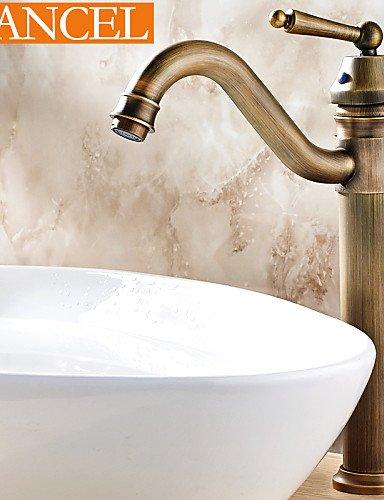 antique brass einziges Loch Einhand-Bad Waschbecken Wasserhahn (Groß)
