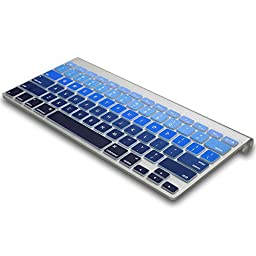 Kuzy - BLUE Ombre Colors Keyboard Cover Silicone Skin for MacBook Pro 13\