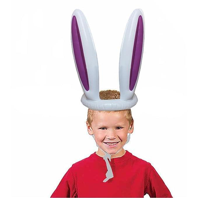 Igemy Igemy Ostern Aufblasbare Bunny Rabbit Ears Hut Ring Werfen