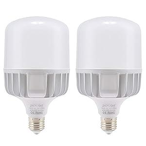 LED Corn Light Bulb, 300W Halogen Bulb Equivalent, High Intensity LED Light 35W Bulb, Daylight White 6000K E26 Base, 3000 Lumens Perfect for Garage Warehouse Workshop Lights, 2 Pack