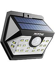 Mpow [Version Avancée] Lampe Solaire 20 LED Etanche Détecteur de Mouvement Temps d'éclairage 30s, Spot Solaire Eclairage Exterieur pour Jardin, Maison, Garage, Cour, Mur, Escalier, Patio etc