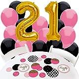 Finally 21 Girl - 21st Birthday - Confetti and Balloon Birthday Party Decorations - Combo Kit