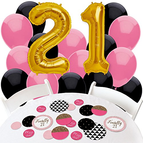 Finally-21-Girl-21st-Birthday-Confetti-and-Balloon-Birthday-Party-Decorations-Combo-Kit