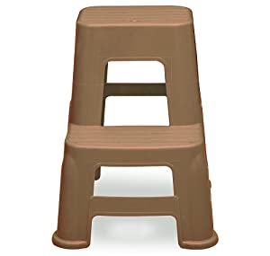Nilkamal STL21 Home Utility Ladder Stool (Brown)