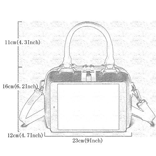Women's Chic Leather Designer Ladies Tote Fashion Bags Bag Handbags Quality Green rAZRrxwq