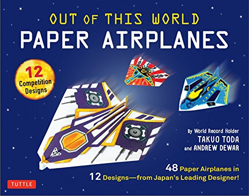 Out of This World Paper Airplanes Kit: 48 Paper Airplanes in 12 Designs from Japan