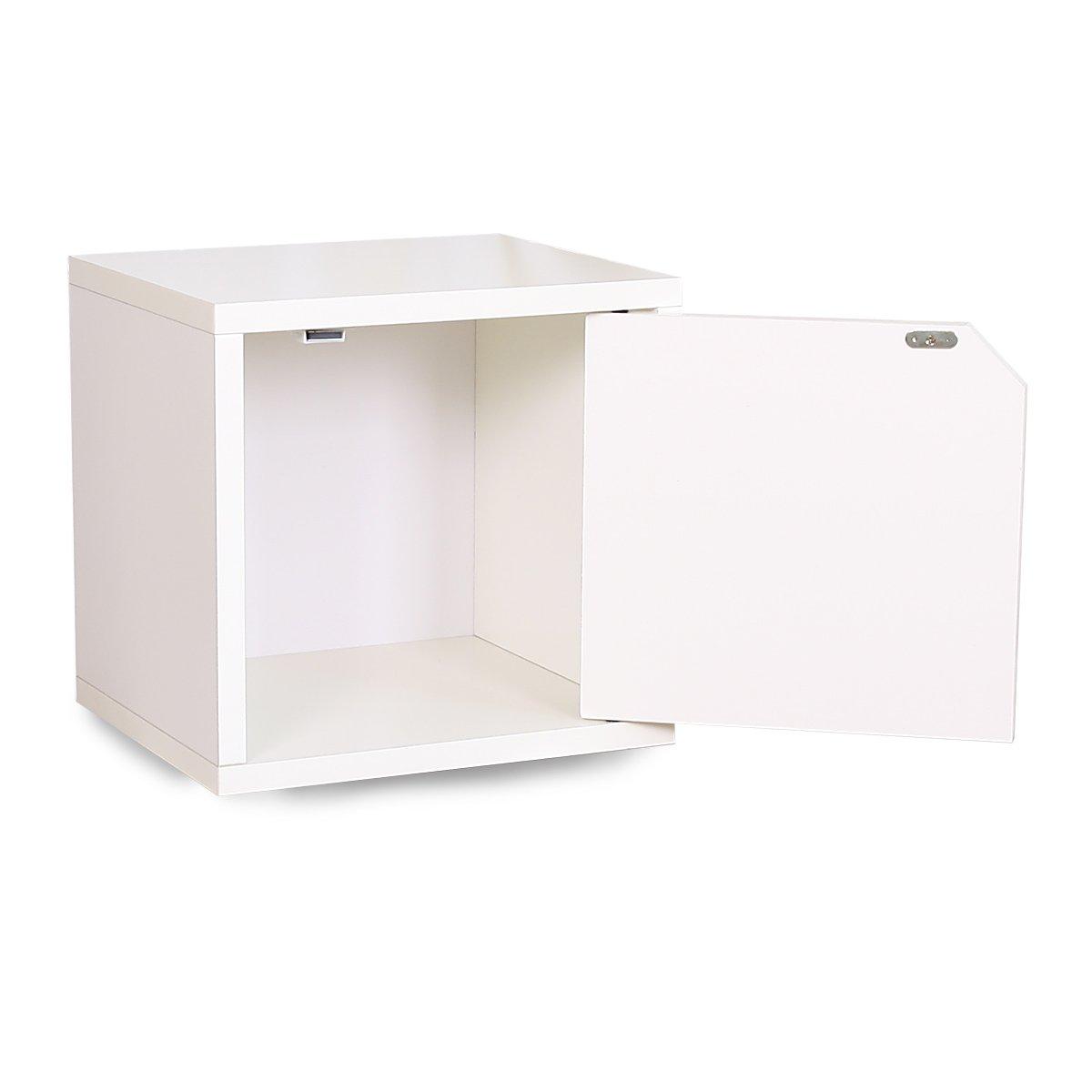 Mendler Modul Würfelregal Standregal M73, 33x34x29 Cm ~ Weiß, Mit Tür:  Amazon.de: Küche U0026 Haushalt