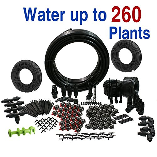 Drip Irrigation Kit for Gardens Deluxe DIY Watering System by Drip Depot