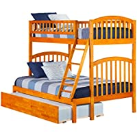 Richland Bunk Bed with Urban Trundle, Twin Over Full, Caramel Latte