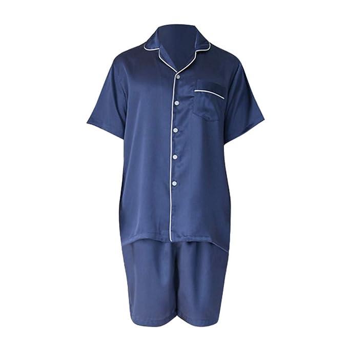 77f056c46c85a Wsxxnhh Conjunto De Pijamas Pijama De Seda De Manga Corta para El Hogar De  Las Parejas 2018  Amazon.es  Ropa y accesorios