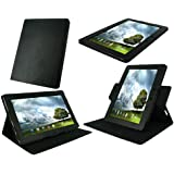 rooCASE Dual-View Multi Angle (Black) Leather Folio Case Cover for Asus Eee Pad Transformer PRIME 10.1-Inch TF201 Tablet