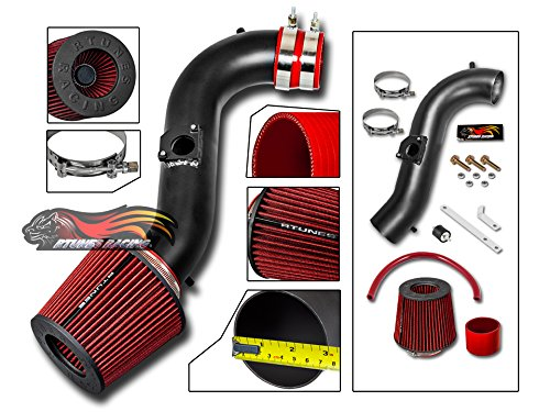 R&L racing MATT BLACK Short Ram Air Intake Kit + RED For 01-05 Lexus IS300 All Model with 3.0L Inline-6 Engine (Best Inline 6 Engine)