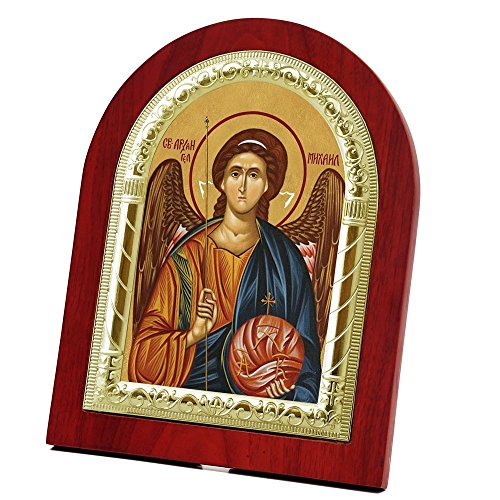FengMicon Archangel Michael Icon Picture of Greek Orthodox Religious Art Prints (FMS-15G - Michael Icon Archangel