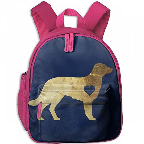 Gold Foil Boston Terrier Love Pet Kid Lightweight Canvas Travel Backpacks School Book (Juniors One Clothing Foil)