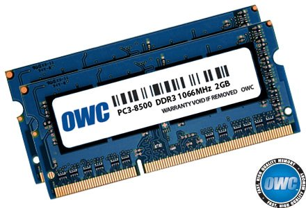 OWC 4.0 GB (2 x 2GB) PC8500 DDR3 1066 MHz 204-pin Memory Upgrade Kit For MacBook Pro, MacBook, Mac mini and iMac by OWC