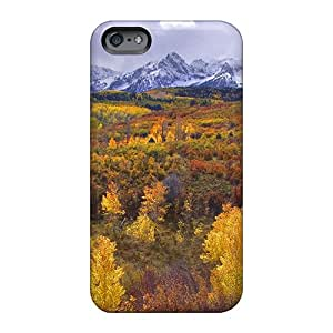 Aimeilimobile99 Apple Iphone 6s Plus Anti-Scratch Hard Phone Cover Customized High Resolution Colorado Rockies Near Telluridein Autuman Image [cEM1113scIZ]