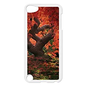 SOPHIA Phone Case Of Maple leaves real tree Unique Cool Painting Fashion Style for iPod Touch 5