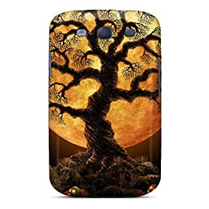 New Fashion Premium Tpu Case Cover For Galaxy S3 - Halloween Tree by Maris's Diary