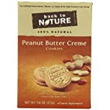 Back To Nature Peanut Butter Creme Cookies, 9.6-Ounce Boxes (Pack of 6) by Back to Nature