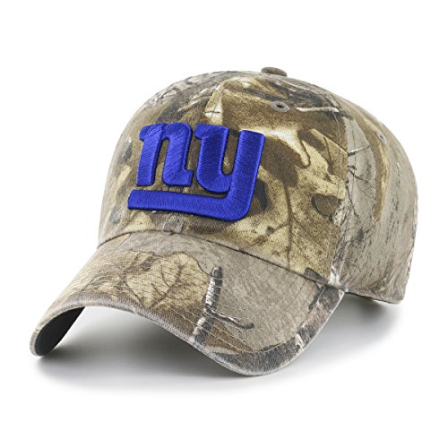 NFL New York Giants Realtree OTS Challenger Adjustable Hat, Realtree Camo, One Size