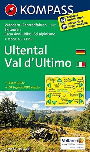 Ultental, Val d'Ultimo: Wanderkarte mit Aktiv Guide, Radrouten und Skitouren. GPS-genau. 1:25000 (KOMPASS-Wanderkarten, Band 52)