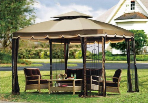 2011 Repalcement Canopy Set for Big Lots 10'x12' Bay Window Gazebo