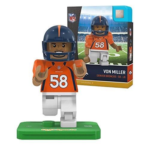 OYO NFL Denver Broncos Gen4 Limited Edition Von Miller Mini Figure, Small, White