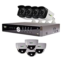 REVO America Aero HD 1080p 16 Ch. Video Security System with 8 Indoor/Outdoor Cameras, White/Black (RA161D4GB4G-2T)