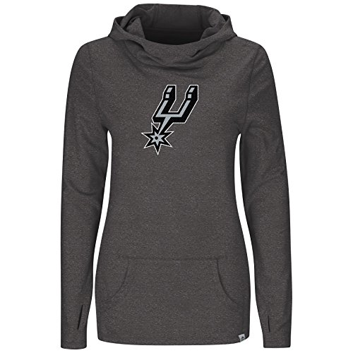 Majestic San Antonio Spurs NBA Women's We Play to Win Cowl Neck Hooded Long Sleeve Shirt (XX-Large)]()