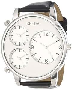 Breda Men's 1627-silver Mitchell Multi Time Zone Watch