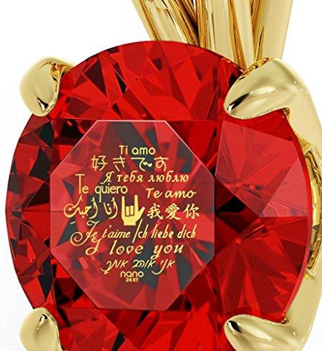 Nano Jewellery Colgante bañado en Oro con Frase de Amor Te Quiero inscrita en Oro de 24ct y en 12 Idiomas sobre Gema de… Nano Jewellery Colgante bañado en Oro con Frase de Amor Te Quiero inscrita en Oro de 24ct y en 12 Idiomas sobre Gema de… Nano Jewellery Colgante bañado en Oro con Frase de Amor Te Quiero inscrita en Oro de 24ct y en 12 Idiomas sobre Gema de…