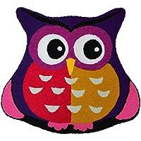 Ustide Purple Owl Rug Handmade Lovely Cartoon Rug Non Slip Floor Mat for Girls Rooms, 26 inches
