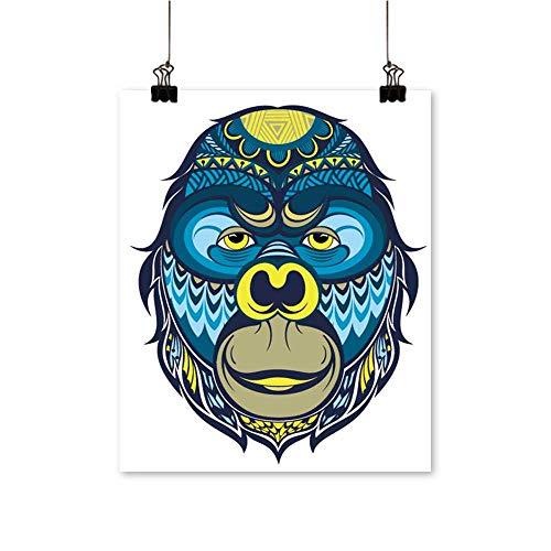 Canvas Wall Art Gorilla Monkey Year The Monkey for Bathroom Home,24
