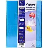 1 cahier kover 24x32cm 96p s y s couverture polypro - Protege cahier avec rabat ...