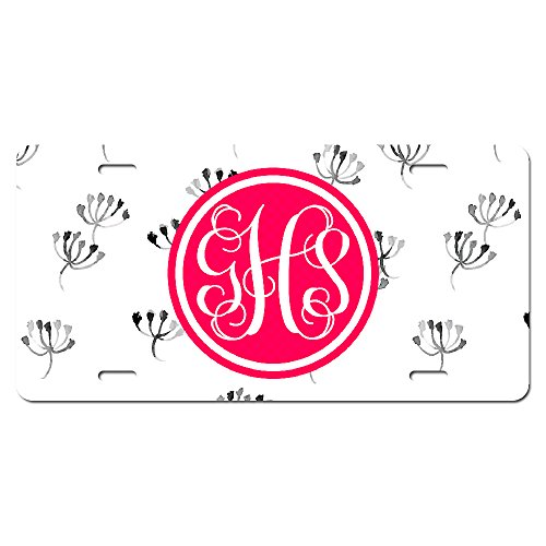 personalized-monogrammed-license-tag-plate-plant-flora-branch