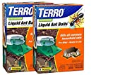 TERRO Outdoor Liquid Ant Bait - 2 Packs of 6 (12 stations total) - Includes the SJ pest guide eBook