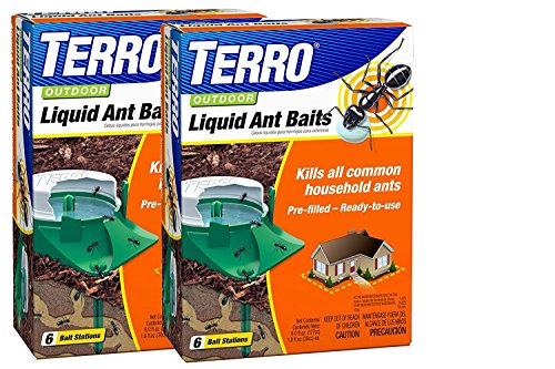 (TERRO Outdoor Liquid Ant Bait - 2 Packs of 6 (12 stations total) - Includes the SJ pest guide eBook)