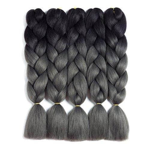 Synthetic Braiding Hair Kanekalon Ombre Braiding Hair Crochet Braids Twist Hair Extensions 5 Pieces/Lot 24