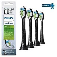 Philips Sonicare DiamondClean HX6064/13 - Set de 4 cabezales estándar para cepillo de dientes eléctrico, color negro