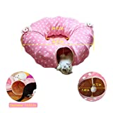 Cat Tube Tunnel with Central Mat for Cat Dog, Soft