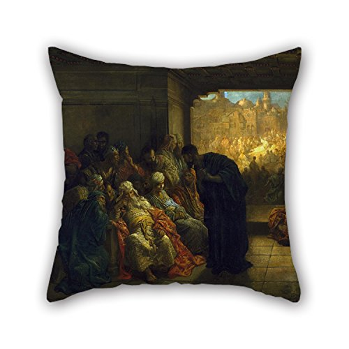 Oil Painting Gustave Doré - The House Of Caiaphas Cushion Covers 20 X 20 Inches / 50 By 50 Cm Best Choice For Family,indoor,sofa,valentine,dining Room,boys With Double Sides ()